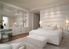 Cozy Elegant Bedroom with White Furniture Design